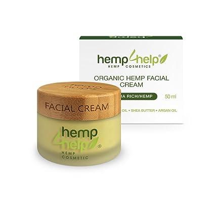 Cáñamo orgánicos Ultra ricos crema facial con extracto de cáñamo CDB, aceite de jojoba,
