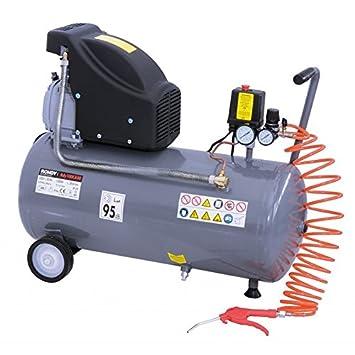 Compresor de aire 50L, 2HP con manguera, pistola de aire: Amazon.es: Coche y moto