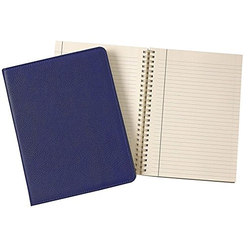 Wire-O-Notebook 9in INDIGO-BLUE Fine Leather by Graphic Image™ - 7x9 by Graphic Image