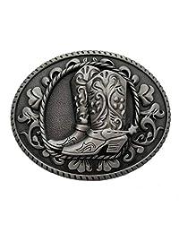 Cowboy Spur Boots Western Rodeo Belt Buckle