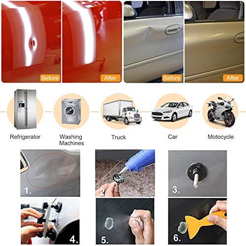 Bonbo 100pcs Car Body Paintless Dent Repair Removal Tools, Auto Dent Puller Kit Automotive Door Ding Dent Silde Hammer Glue Puller Repair Starter Set Kits for Car Hail Damage and Door Dings Repair by Bonbo (Image #1)