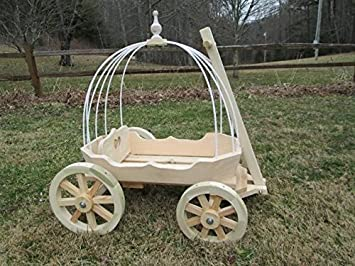 Mini Wedding Wagons Angel Cinderella Carriage, Unfinished, Outdoor ...