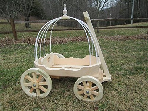 Mini Wedding Wagons Angel Cinderella Carriage44; Unfinished ()