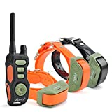 iPets PET618-3 Dog Shock Collar 2600ft Remote Controlled Collar 100% Waterproof & Rechargeable Dog Training Collar with Beep Vibrating Electric Collar for Dogs ¡­