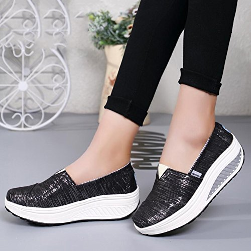 Tela Primavera Autunno Sneakers Shake Mocassini Guida Slip Xue Scarpe da E Fitness Loafers Da Flat Donna B guida Di Shoes Shaking Athletic Platform 4XIYwq