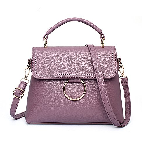Quadrato A Neri Ome Diagonale Borsa Purple Qiumei amp; Deep Tracolla Sacchi 6RH8wnBAq