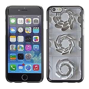 PC/Aluminum Funda Carcasa protectora para Apple Iphone 6 3D Pattern Art White Clean Plastic / JUSTGO PHONE PROTECTOR