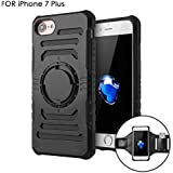 AOKII [Detachable 2 in 1] Shockproof iPhone 7 Plus/6s Plus/6 Plus Case and Sports Armband for iPhone 6/6s/7 PLUS [5.5 inch] Arm Band for Running and All Activities [Rugged Protective Armoured