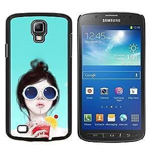 EJOOY---Cubierta de la caja de protección para la piel dura ** Samsung Galaxy S4 Active i9295 ** --Niña británica