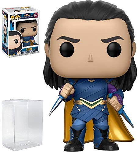 - Funko Pop! Marvel: Thor Ragnarok - Loki Sakaarian #242 Vinyl Figure (Bundled with Pop BOX PROTECTOR CASE)