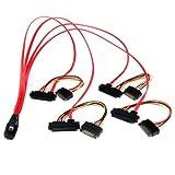 StarTech.com 50cm Internal Serial Attached SCSI Mini SAS Cable - SFF8087 to 4X SFF8482 - Internal Mini SAS Cable (SAS808782P50)