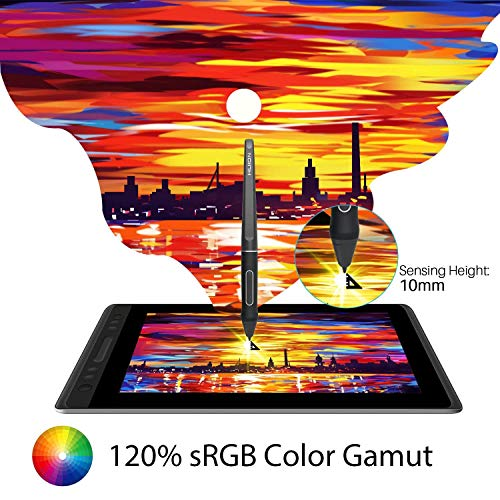 Huion KAMVAS Pro 13 GT-133 Graphics Drawing Monitor Pen Display Tilt Function Battery-Free Stylus 8192 Pen Pressure - 13.3 Inches