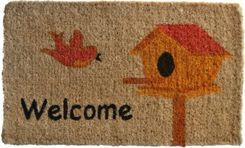 Imports Decor Printed Coir Doormat, Birdhouse, 18-Inch by 30-Inch