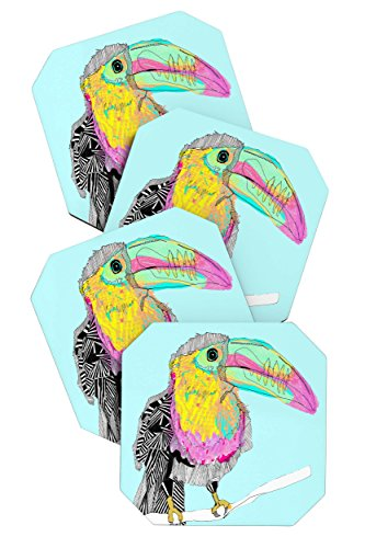 - Deny Designs Casey Rogers Toucan Coasters, Set of 4