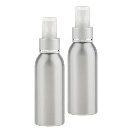 MagiDeal 2 Piezas Botellas de Spray de Perfume de Aluminio Atomizador de Niebla Fina para Viajes
