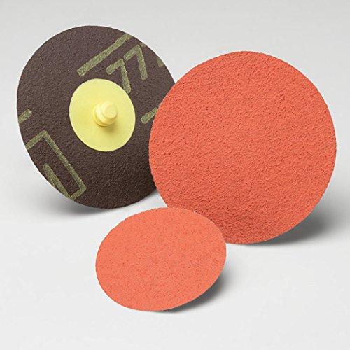 Cloth Ceramic Aluminum Oxide TM 3M Pack of 50 TM Roloc 2 Diameter 60 Grit TSM Attachment Disc TSM 777F 2 Diameter