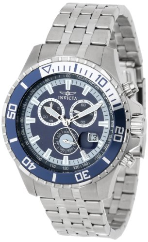 Invicta Men's 13649 Pro Diver Chronograph Navy Blue Dial Stainless Steel Watch by Invicta