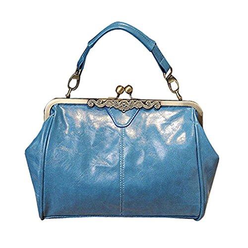 Handbag Lock Minimalist Bag Satchel Leather Handnbag Imitation Kiss Totes Women J Retro Purse Bag Abuyall Shoulder Vintage qF7wHxX