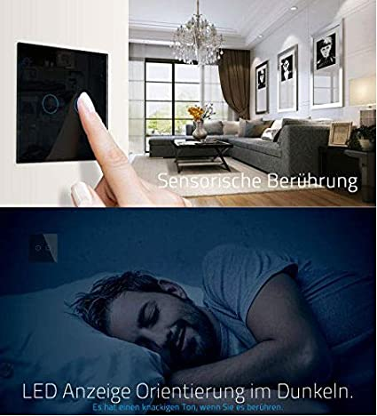 Livolo EU standard verre de luxe panneau de verre intelligent ecran tactile commutateur,VL-C702-15-A