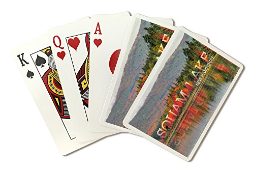 Squam Lake, New Hampshire - Fall Colors and Lake (Playing Card Deck - 52 Card Poker Size with Jokers) by Lantern Press