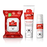 yes to tomatoes face - Yes To Tomatoes Face Kit - Antioxidant-Rich Products for Clear Skin (Facial Wipes, Clarifying Cleanser, Daily Balancing Moisturizer)