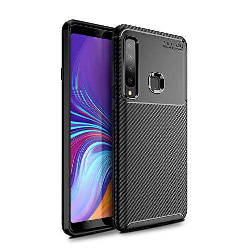 Olixar for Samsung Galaxy A9 2018 Carbon Fiber Case - Slim TPU Cover - Thin Protective Cover - Shock Protection - Wireless Charging Compatible - Black
