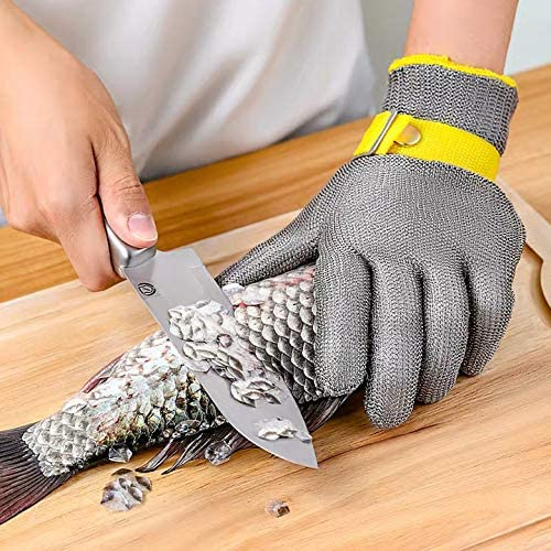 Anti Cut Cut Resistant Safety Gloves Stainless Steel Metal Mesh Wire Hand Protect Safety Gloves For Kitchen Cutting