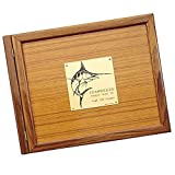 Weems & Plath Boat Log Book Teak Cover (Marlin Plate) by Weems & Plath