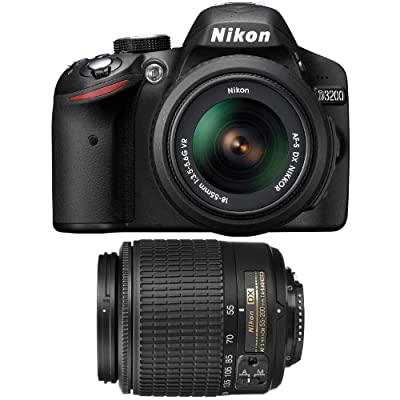 Nikon D3200 24.2 MP CMOS Digital SLR with 18-55mm VR and 55-200mm Non-VR DX Zoom Lenses by Nikon