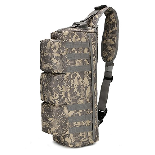 Men's Tactical MOLLE Assault Go Bag Camouflage Shoulder Sling Army Bags Military Hiking Camping Pack Fishing Backpack XA192WD ACU by Camouflage bag