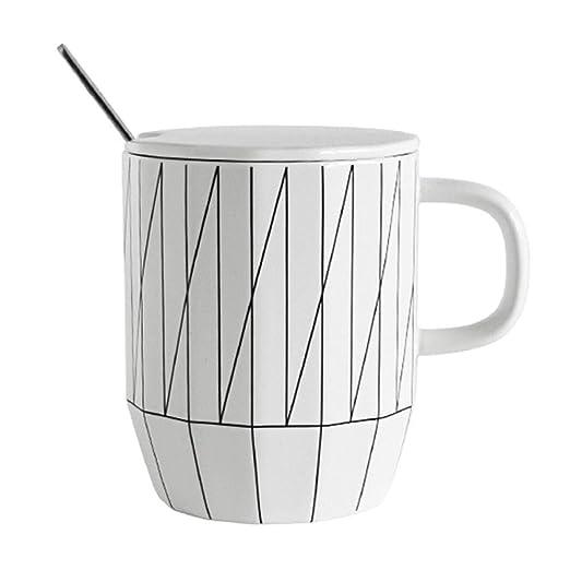 Tazas de café Taza de cerámica línea geométrica vaso de agua de ...
