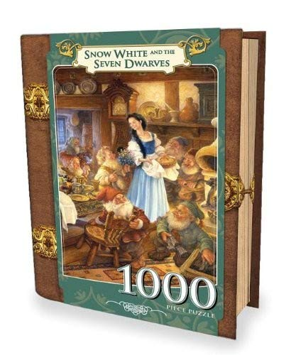 MasterPieces Snow White and The Seven Dwarves Book Box Jigsaw Puzzle, Art by Scott Gustafson, 1000-Piece -