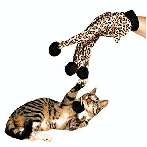 Pet Funny Leopard Glove Ball Teaser Kitten Cat Kitty Dog Toys