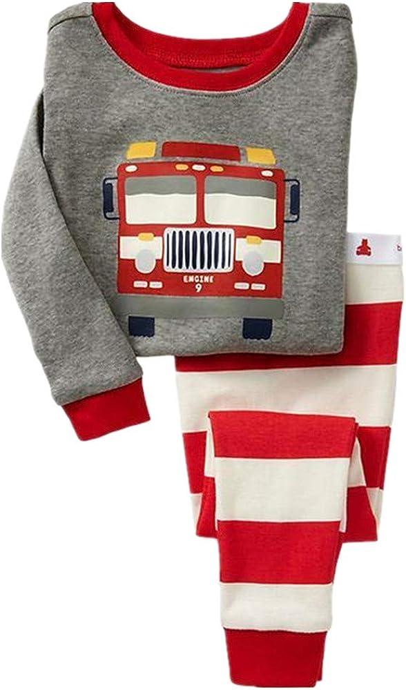 Tkala Fashion Boys Long Set Dinosaur Pajamas Winter Outfits Clothes 100% Cotton Kids Pjs Sleepwear