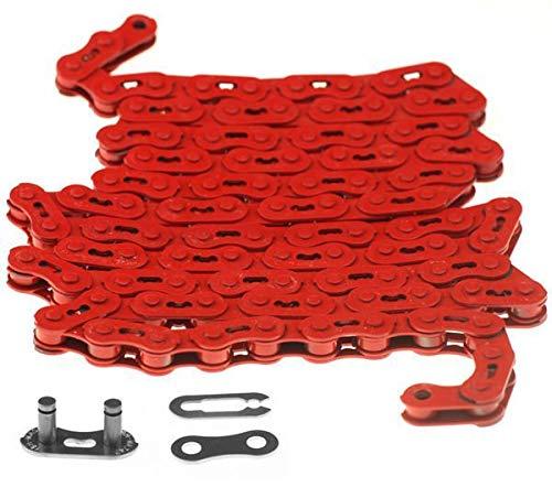 YBN Fixie Track Single Speed BMX Bike MK747 Kool Chain Red (Chain Kool)