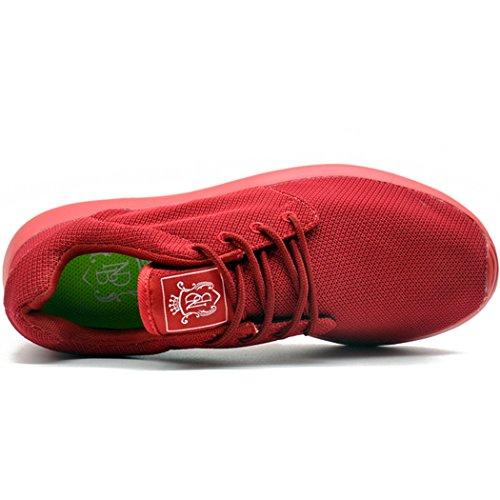 KENSBUY Adi Mens Breathable bequeme Lace-Up Laufschuhe, zu Fuß, Beach Aqua, Outdoor, Bewegung, sportliche Turnschuhe Alles rot