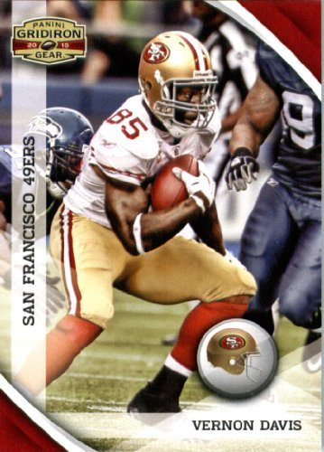 2010 Upper Deck Gridiron - 2010 Panini Gridiron Gear Football Card #129 Vernon Davis - San Francisco 49ers - NFL Trading Card