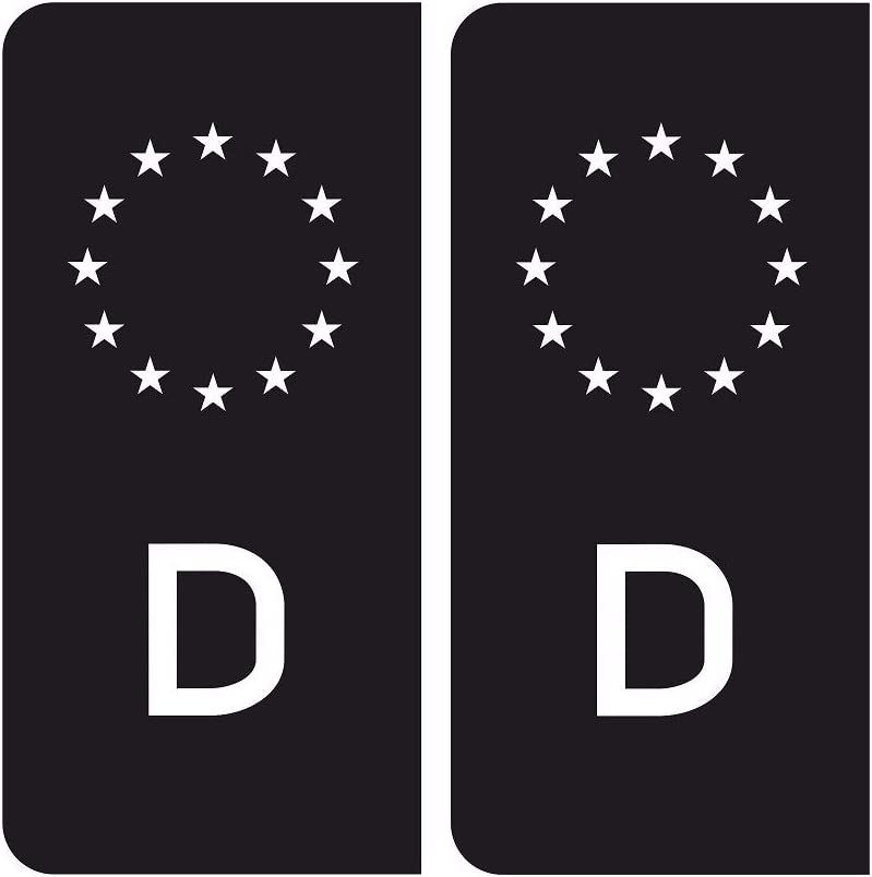 Mg345 2x Aufkleber Nummernschild Deutschland Eu Sticker Black D Feinstaub V8 Outlaw Tuning Auto