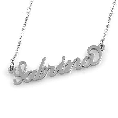 amorili Collar con Nombre Sabrina Acero Inoxidable de Las ...
