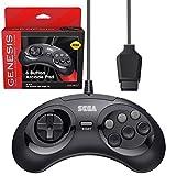 Retro-Bit Official Sega Genesis Controller 6-Button Arcade Pad for Sega Genesis - Original Port - Black