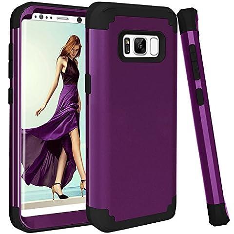 Galaxy S8 Case, GPROVA Three Layer Hybrid Soft Silicone and PC Hard Case, Heavy Duty Rugged Bumper Case 360 Degree All-around Full Drop-protective for Samsung Galaxy S8 (Galaxy Speck 5s Case)