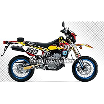 suzuki drz400 sm e decal graphic kit dirt bike sticker with backgrounds drz 400. Black Bedroom Furniture Sets. Home Design Ideas