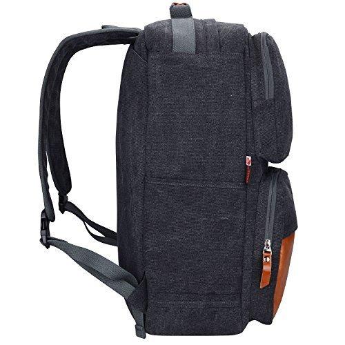 4ae7521770cf Amazon | Witzman Men's Retro Canvas Casual Duffel Bag Travel Rucksack  バックパック 6617 (23 inch, ブラック) [並行輸入品] | Witzman | スポーツダッフルバッグ