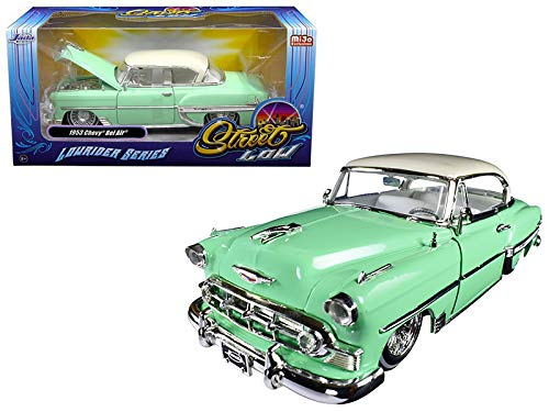 Jada 98917 1953 Chevrolet Bel Air Light Green Lowrider Series Street Low 1/24 Diecast Model Car ()