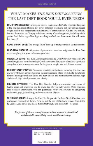 rice diet solution menu