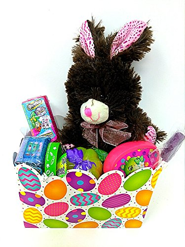 Amazon happy easter basket kids toddlers gift children pre made happy easter basket kids toddlers gift children pre made eggs goodies candy baskets chocolate scent bunny negle Gallery