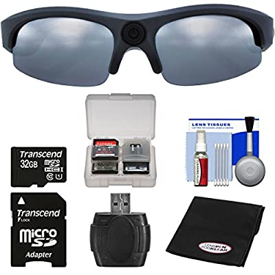 Coleman Vision HD G3HD-SUN 1080p HD Action Video Camera Camcorder Polarized Sunglasses with 32GB Card + Reader + Anti-Fog Cloth + Kit