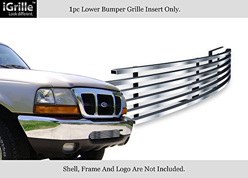 APS Compatible with 98-00 Ford Ranger Lower Bumper Stainless Steel Billet Grille Insert F85048C