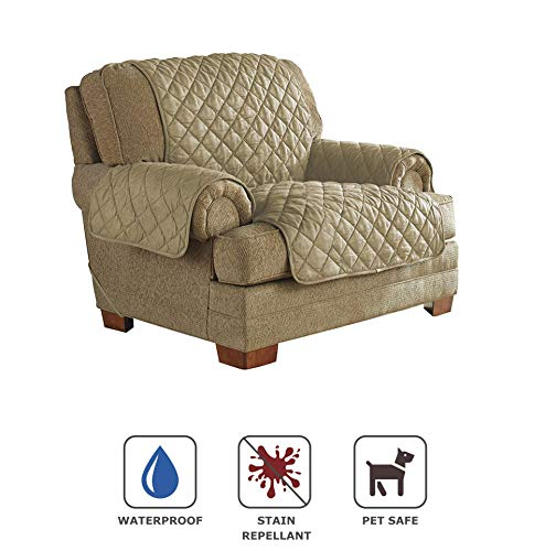 Serta | Quilted Ultra Suede Waterproof Furniture Protector,