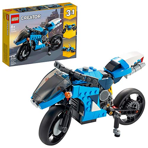 LEGO Creator 3in1 Superbike 31114 Toy Motorcycle Building Kit; Makes a Great Gift for Kids Who Love Motorbikes and…